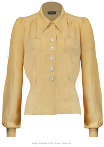 House Of Foxy 1940's Sweetheart Blouse in Sahara