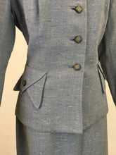 Load image into Gallery viewer, Original 1950s Atomic Fleck 2pc Suit - In a Lovely Powdered Blue