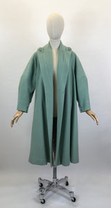 Original 1950's SENSATIONAL Swing Coat - In A Perfectly Springlike Pastel Mint Green