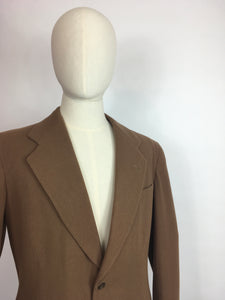 Original Gents Wool Single Breasted Jacket - In a Lovely Dark Caramel Colour Wool