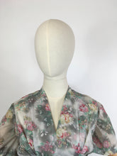 Load image into Gallery viewer, Original 1950s ' Eastex ' Floral Dress - In a Lovely Muted Colour Pallet of Soft Pinks, Muted Creams, Taupe and Greys