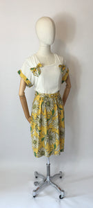 Original 1940's Stunning Summer Dress - Vibrant Colour Floral Print