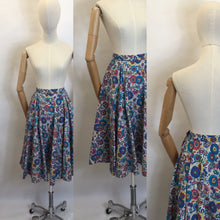 Load image into Gallery viewer, Original 1950's ' St. Michael ' Skirt - Made From A Beautiful Paisley Cotton
