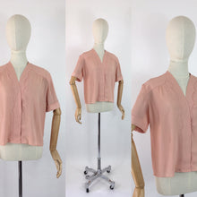 Load image into Gallery viewer, Original 1940's Dusky Rose Crepe Blouse - Made By the Fabulous Debenham and Freebody