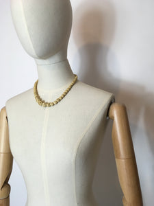 Original 1930's Celluloid Necklace In a Buttermilk Cream - Festival Of Vintage Fashion Show Exclusive
