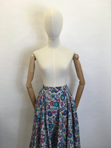 Original 1950's ' St. Michael ' Skirt - Made From A Beautiful Paisley Cotton