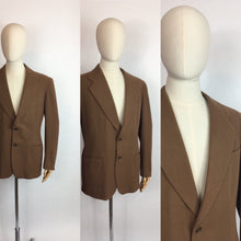 Load image into Gallery viewer, Original Gents Wool Single Breasted Jacket - In a Lovely Dark Caramel Colour Wool