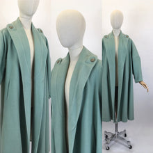 Load image into Gallery viewer, Original 1950's SENSATIONAL Swing Coat - In A Perfectly Springlike Pastel Mint Green