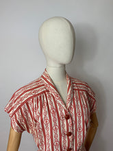 Load image into Gallery viewer, Original 1940's 3 pc Summer Suit - In a lovely Nautical Print in Red & Ivory