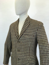 Load image into Gallery viewer, Original Gents Harris Tweed Jacket - In An Open Weave of Browns, Sage Green and Black