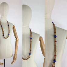 Load image into Gallery viewer, Original 1930s Multistrand Necklace - In Contrasting Wooden and Glass Beads