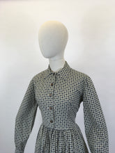 Load image into Gallery viewer, Original 1950's Fabulous ShirtWaister Dress - In A Geometric Print Cotton