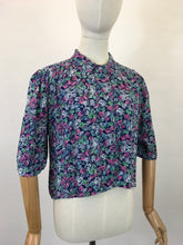 Load image into Gallery viewer, Original 1940's Beautiful Crepe Over Jacket / Blouse - In A Warm Frosted Berry Colour Pallet
