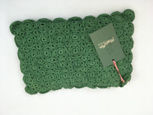 Load image into Gallery viewer, Original 1940s Crochet Clutch Bag - In a Lovely Shade Of Green
