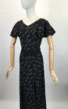 Load image into Gallery viewer, Original 1930's Exquisite Full Length Gown in A Fine Crepe - Made By ' Cavendish House, Cheltenham '