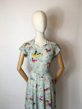 Load image into Gallery viewer, Original 1940's Dancing Horses Print Dress - In a lovely Sheer Rayon Fabric