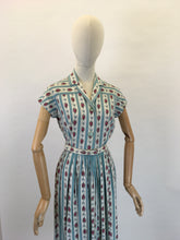 Load image into Gallery viewer, Original 1950's ' St. Michael' Floral Cotton Day Dress - In Beautiful Blues, Pinks, Greens and Whites