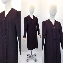 Load image into Gallery viewer, Original 1930s Summer Overcoat - In a Fabulous Textured Waffle Crepe in Faded Navy