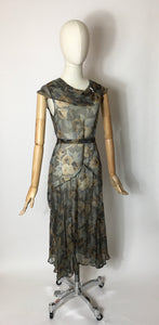 Original 1930's 2 Piece Dress & Jacket Set in Stunning Deco Pallet - A Festival Of Vintage Fashion Show Exclusive