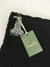 Load image into Gallery viewer, Original 1940s Stunning Black Crochet Clutch Bag - With Fabulous Lucite Pull