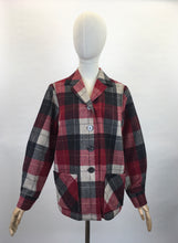 Load image into Gallery viewer, Original 1960's Pendleton Check Jacket - In Lovely Warm Reds, Black's and Ivories