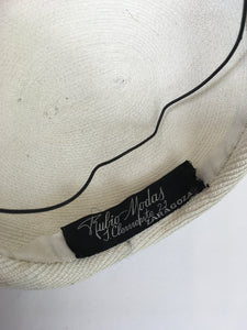 Original 1950's Simple Yet elegant White Hat - For Chic 50's Styling