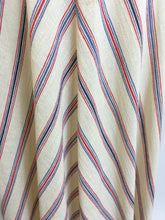 Load image into Gallery viewer, Original 1940's Striped Day Dress - Lovely Cheesecloth fabric in Patriotic Colour Palette