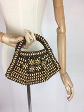Load image into Gallery viewer, Original 1940's Wooden Beaded Bag - In A Fabulous Shape with 2 tone beadwork
