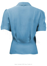 Load image into Gallery viewer, House of Foxy 1930's Wallis Blouse in Powder Blue