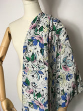 Load image into Gallery viewer, Original 1940's Semi Sheer Floral Rayon - In a Beautiful Summer Colour Pallet - 3.5m