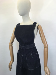 Freddie's Of Pinewood Home Companion Dungarees - In Indigo