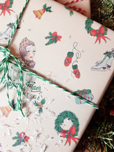 Load image into Gallery viewer, Exclusively Designed By Shropshire Illustrator Hannah Chumbley - Our Bespoke Festive Wrapping Paper Pr Sheet