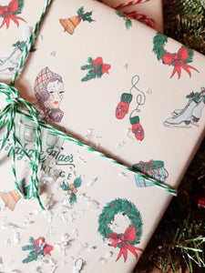 Exclusively Designed By Shropshire Illustrator Hannah Chumbley - Our Bespoke Festive Wrapping Paper Pr Sheet