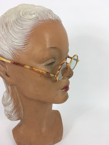 Original 1930s Sunglasses - In a Lovely Cream and Brown 2 Tone in a Small Classic Frame