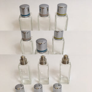 Original late 1930's early 1940's set of 3 Vanity Bottles - Great for the Dressing Table