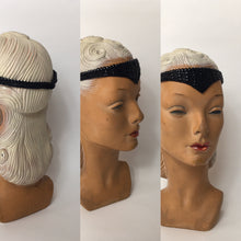 Load image into Gallery viewer, An Original late 1920s Black Beaded Flapper Headband - A Festival of Vintage Fashion Show Exclusive