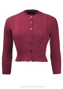 House of Foxy Vintage style Cardigan in Berry