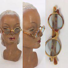 Load image into Gallery viewer, Original 1930s Sunglasses - In a Lovely Cream and Brown 2 Tone in a Small Classic Frame