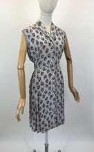 Load image into Gallery viewer, Original 1950's Cute Button Front Dress - In A Lovely Pretty Cameo Floral