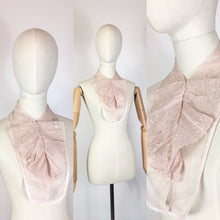 Load image into Gallery viewer, Original 1930's Broderie Anglaise Dickie - By Saks Fifth Avenue in A Powdered Pink