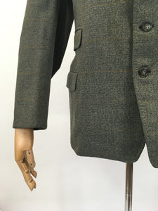 Original Gents ' Magee' Jacket - In Greys, Oranges and Greens