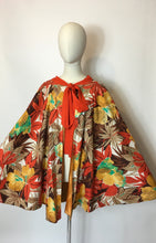 Load image into Gallery viewer, Original 1930s Floral Cape In Amazing Art Deco Colour Pallet - Festival of Vintage Fashion Show Exclusive