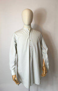 Original Gents Collarless Shirt by ' Morgan and Ball London' - In a lovely Duck Egg Blue Stripe