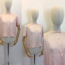 Load image into Gallery viewer, Original 1940's Cc41 Utility Blouse - Made From A Beautiful Powdery Pink Silk