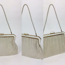 Load image into Gallery viewer, Original Late 1950s Early 1960's Chain Bag - In a Fabulous Bright White with Lots of Movement