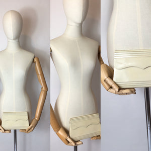 Original Rare 1930's Ivory Celluloid Clutch Bag - Festival of Vintage Fashion Show Exclusive