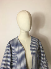 Load image into Gallery viewer, Original 1950s Summer Suit In a lovely Lightweight Seersucker fabric - Blue & White Stripes
