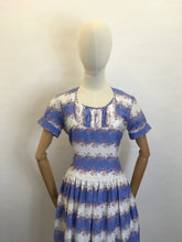 Load image into Gallery viewer, Original 1950s Cotton Day Dress - In a Beautiful Summer Colour Palette