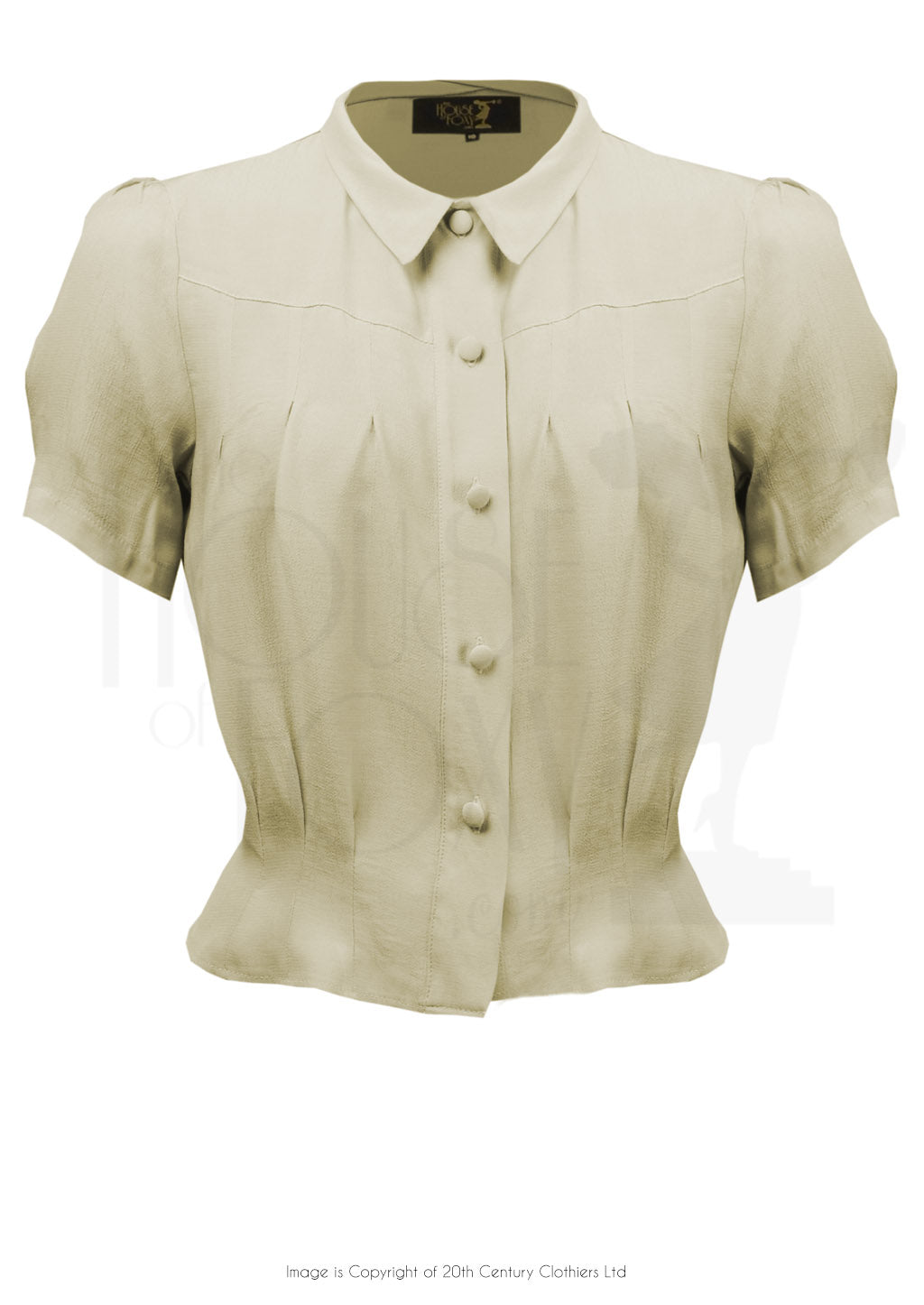 House Of Foxy 1930's Bonnie Blouse in Antique Cream