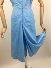 Load image into Gallery viewer, Original 1940's Homemade Zip Front Playsuit - In a Lovely Sky Blue Cotton